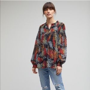 Tops - ANTHROPOLOGIE AKEMI + KIN floral smocked blouse